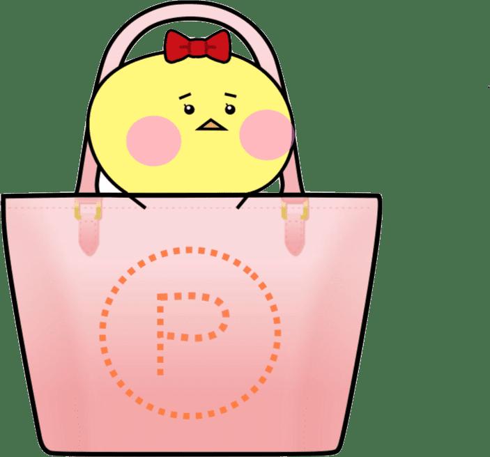 バッグの中から説明をするループオン のピヨッチ