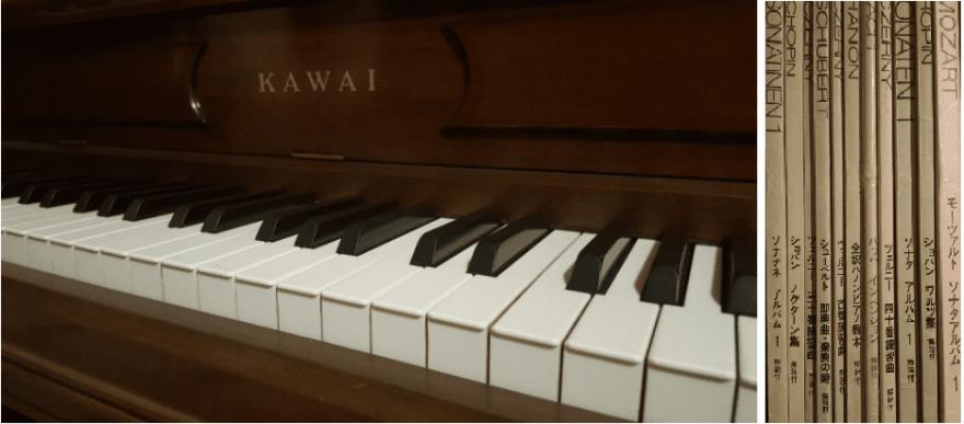お買取りしたtピアノと楽譜